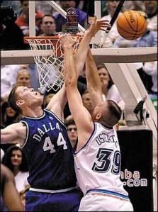 shawn bradley blocking a shot